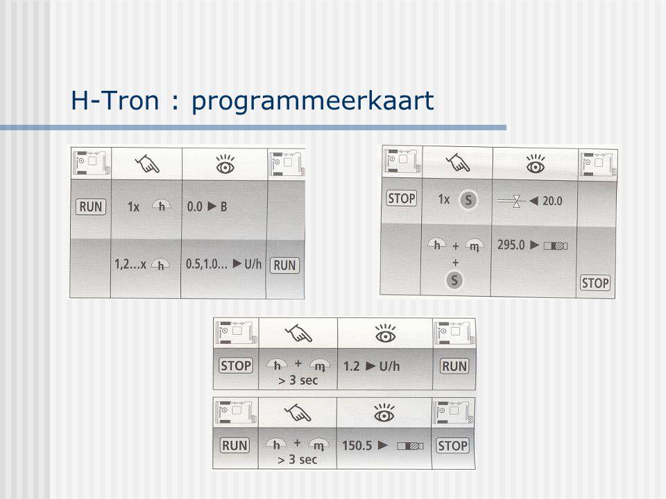 H-Tron : programmeerkaart
