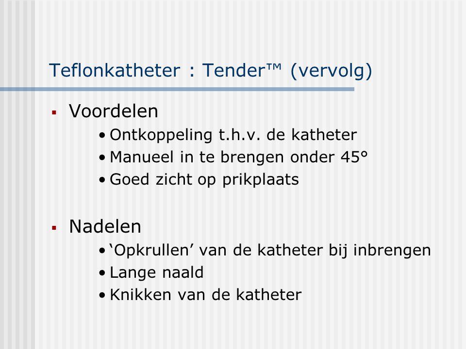 Teflonkatheter : Tender™ (vervolg)