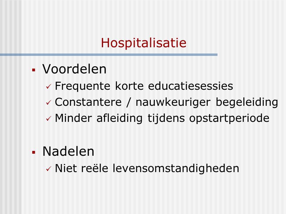 Hospitalisatie Voordelen Nadelen Frequente korte educatiesessies