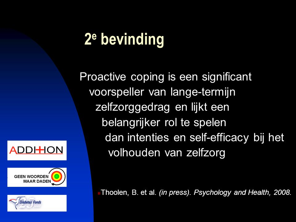 2e bevinding Proactive coping is een significant