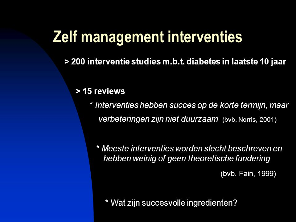 Zelf management interventies