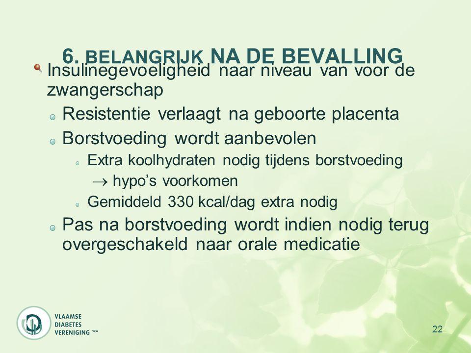 6. BELANGRIJK NA DE BEVALLING