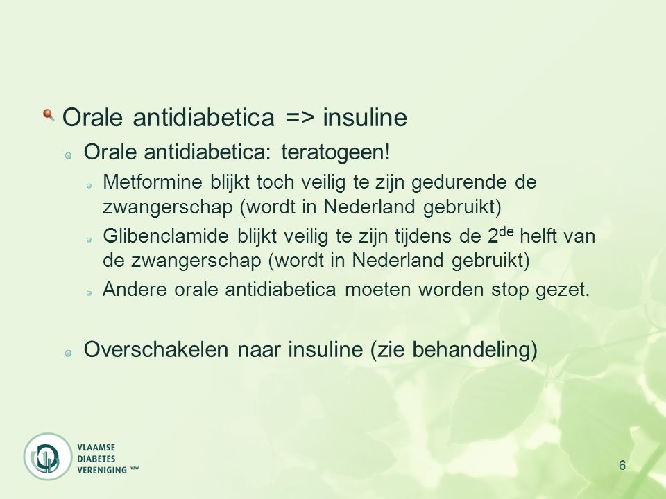 Orale antidiabetica => insuline