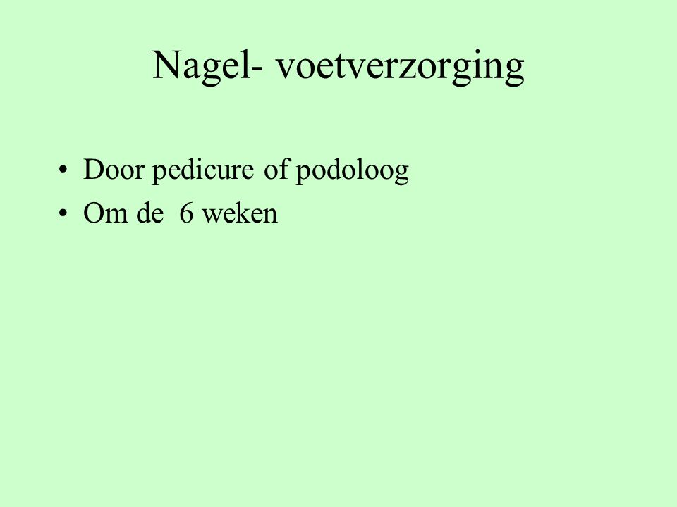 Nagel- voetverzorging