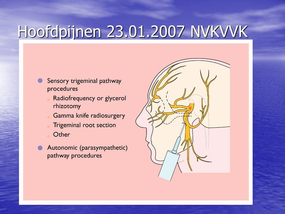 Hoofdpijnen 23.01.2007 NVKVVK
