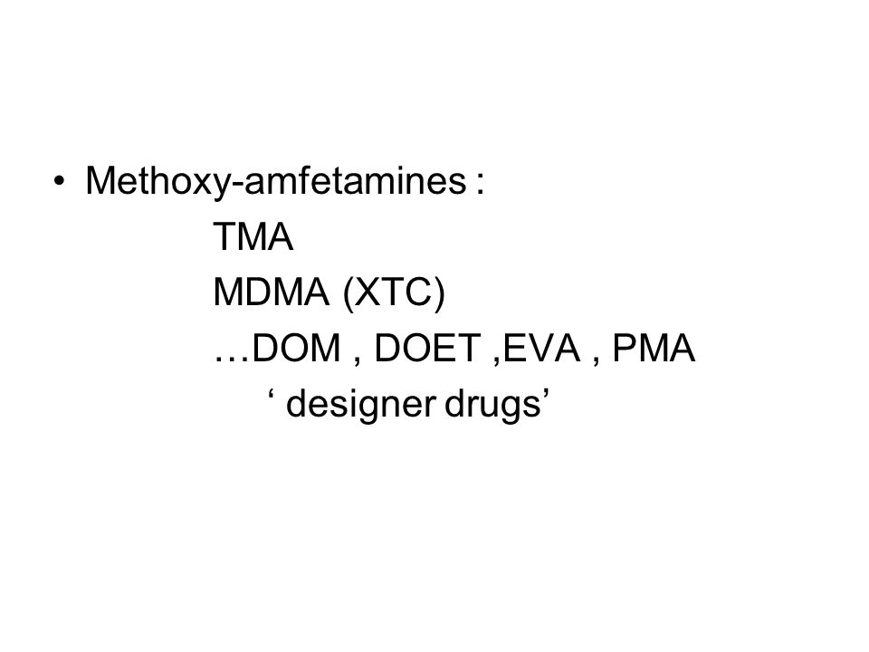 Methoxy-amfetamines :