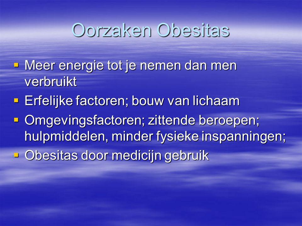 Oorzaken Obesitas Meer energie tot je nemen dan men verbruikt