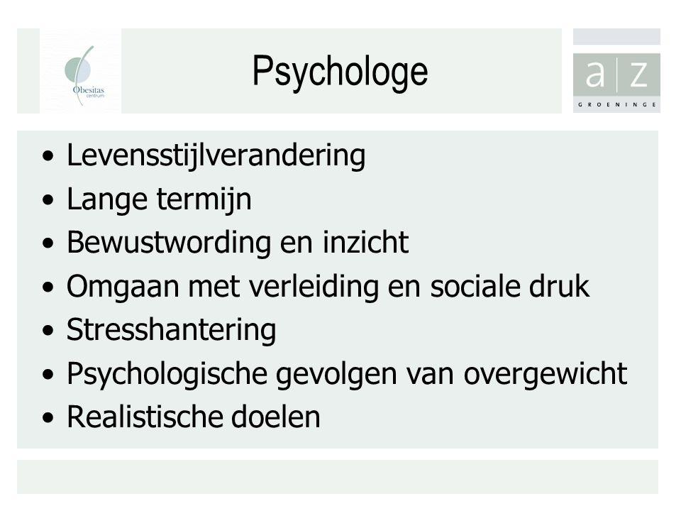 Psychologe Levensstijlverandering Lange termijn