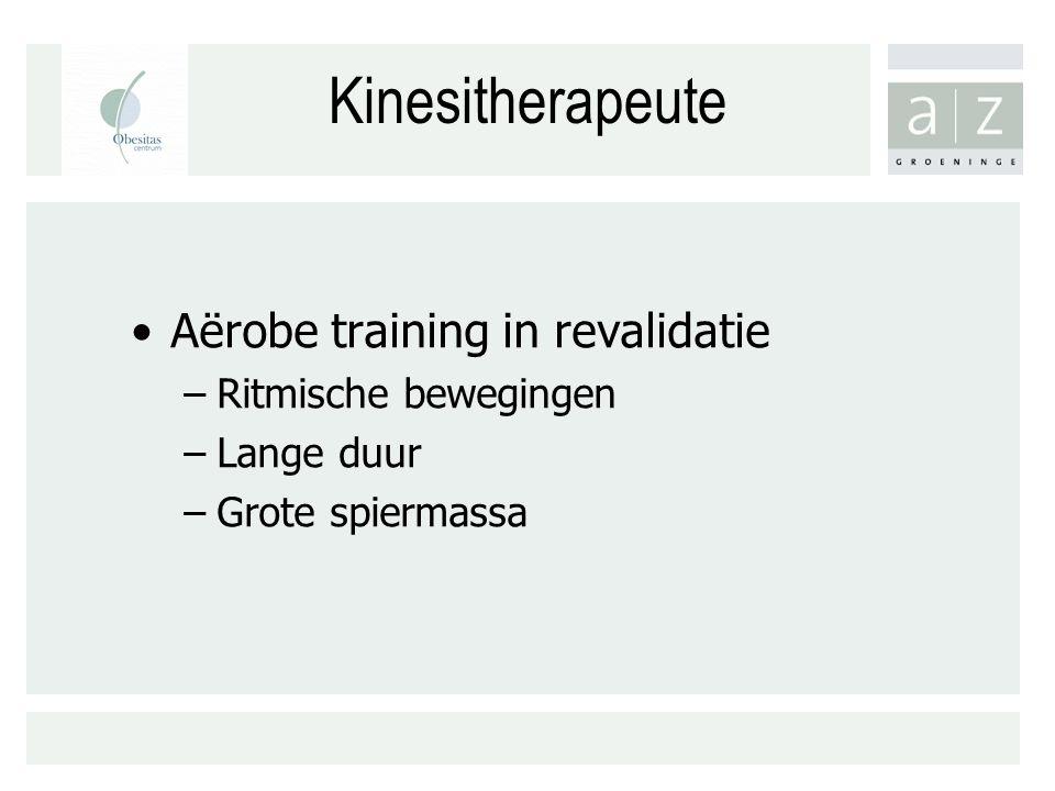 Kinesitherapeute Aërobe training in revalidatie Ritmische bewegingen