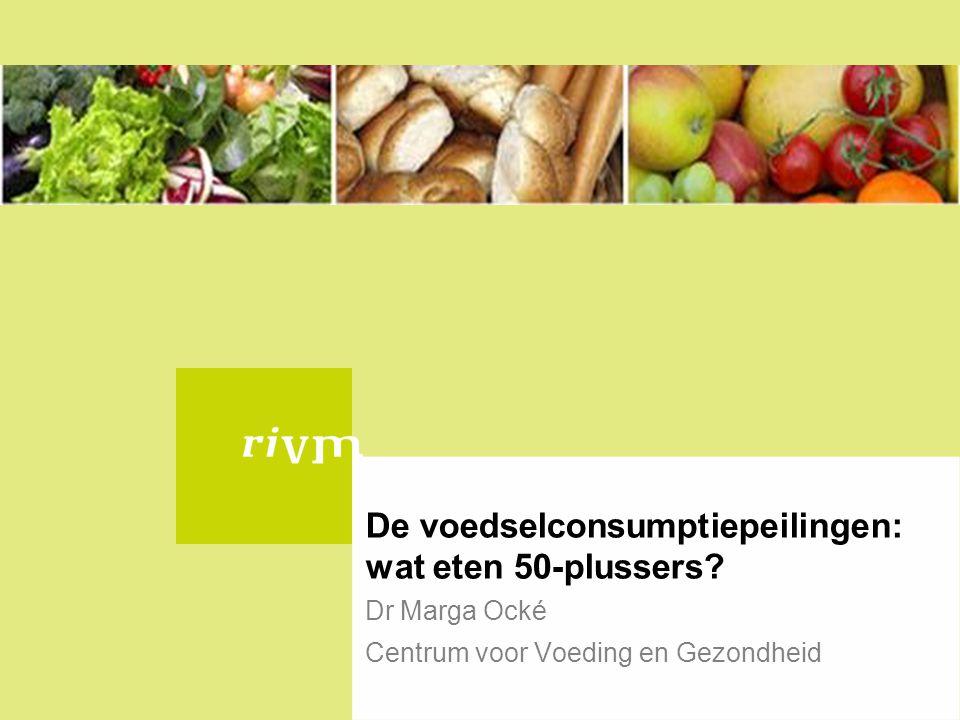 De voedselconsumptiepeilingen: wat eten 50-plussers