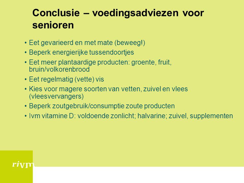 Conclusie – voedingsadviezen voor senioren