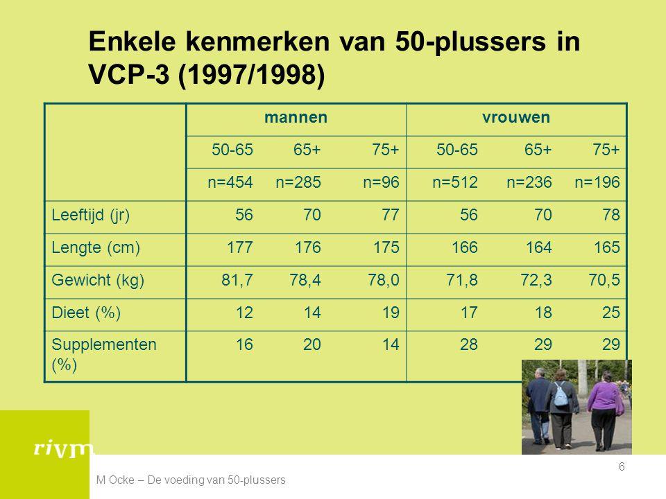 Enkele kenmerken van 50-plussers in VCP-3 (1997/1998)
