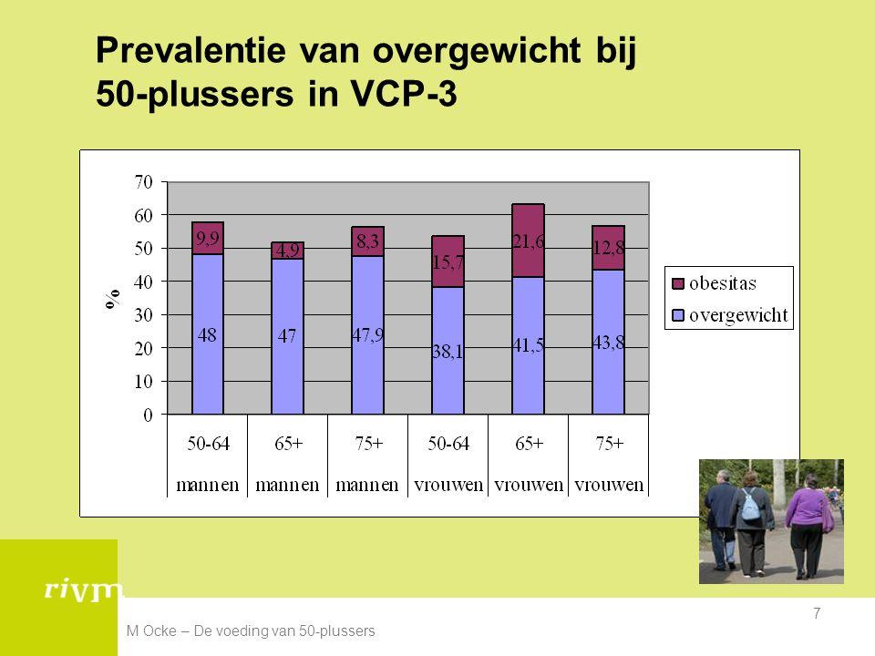 Prevalentie van overgewicht bij 50-plussers in VCP-3