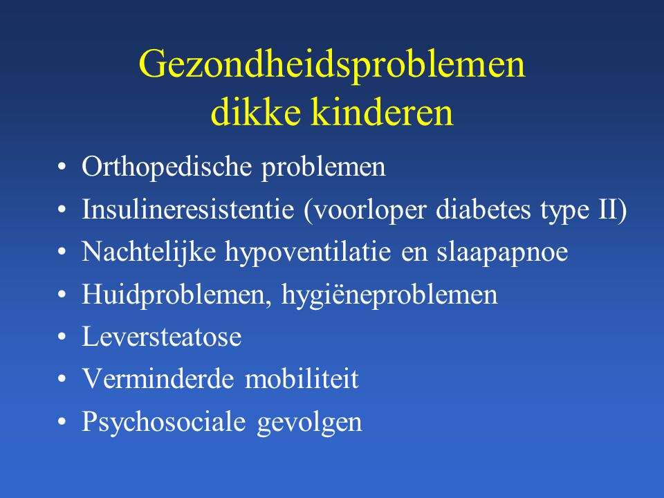 Gezondheidsproblemen dikke kinderen