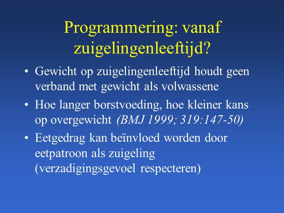 Programmering: vanaf zuigelingenleeftijd