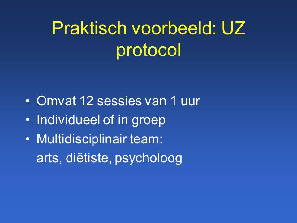 Praktisch voorbeeld: UZ protocol