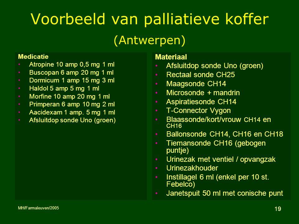 Voorbeeld van palliatieve koffer (Antwerpen)
