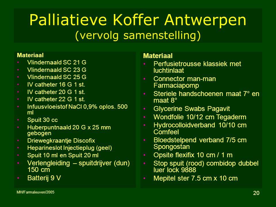 Palliatieve Koffer Antwerpen (vervolg samenstelling)
