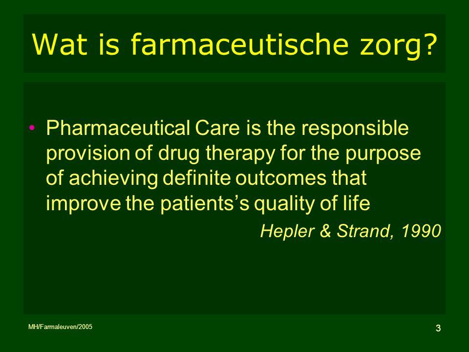Wat is farmaceutische zorg