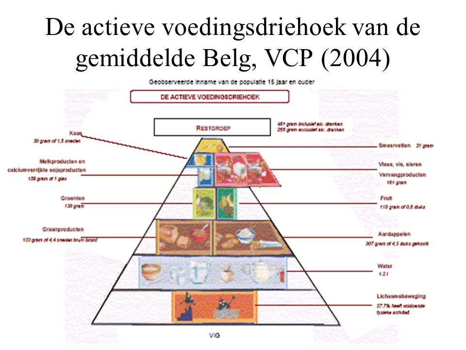 De actieve voedingsdriehoek van de gemiddelde Belg, VCP (2004)