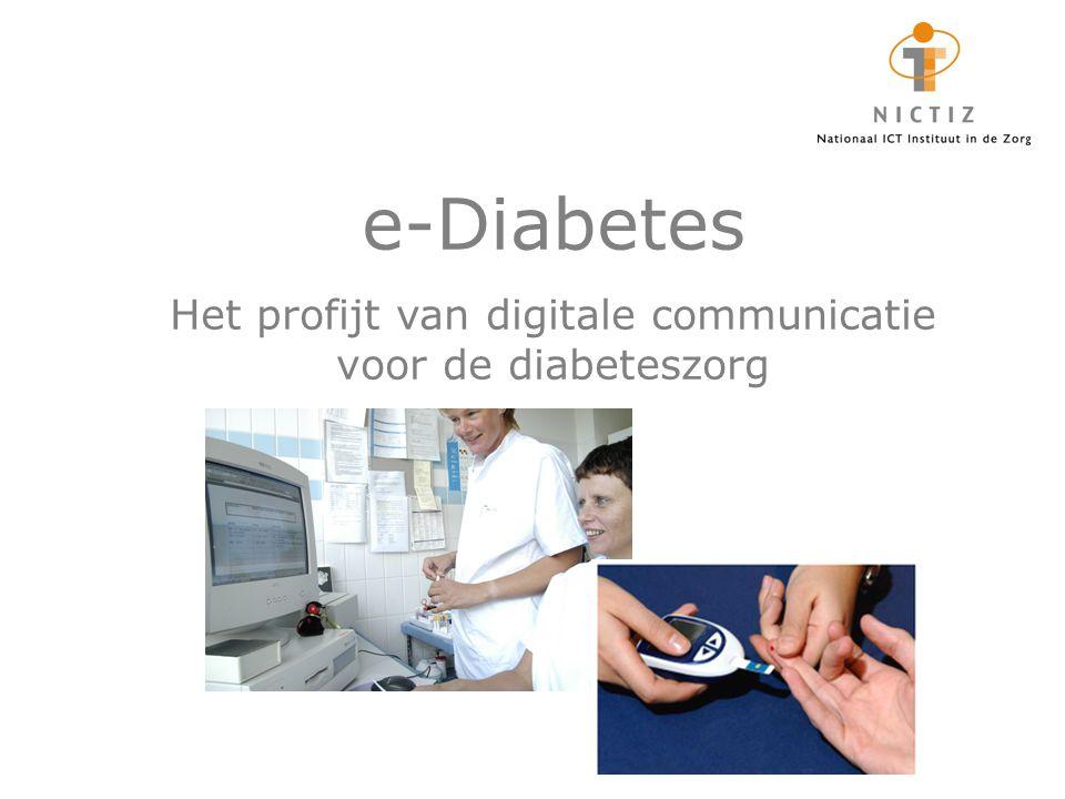 Het profijt van digitale communicatie voor de diabeteszorg