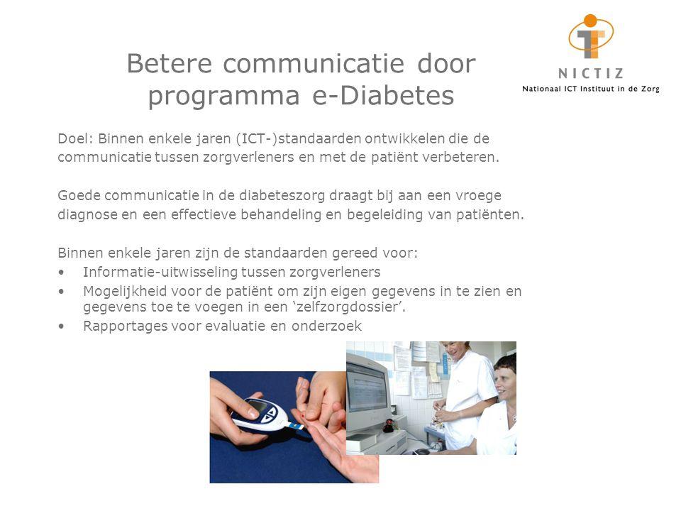 Betere communicatie door programma e-Diabetes