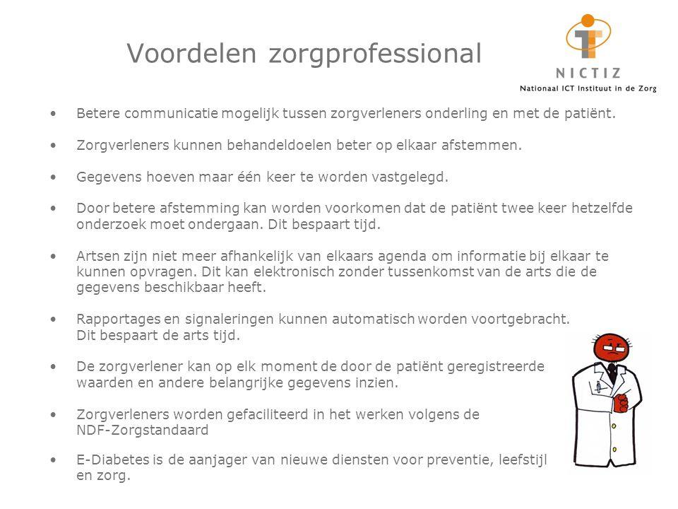 Voordelen zorgprofessional