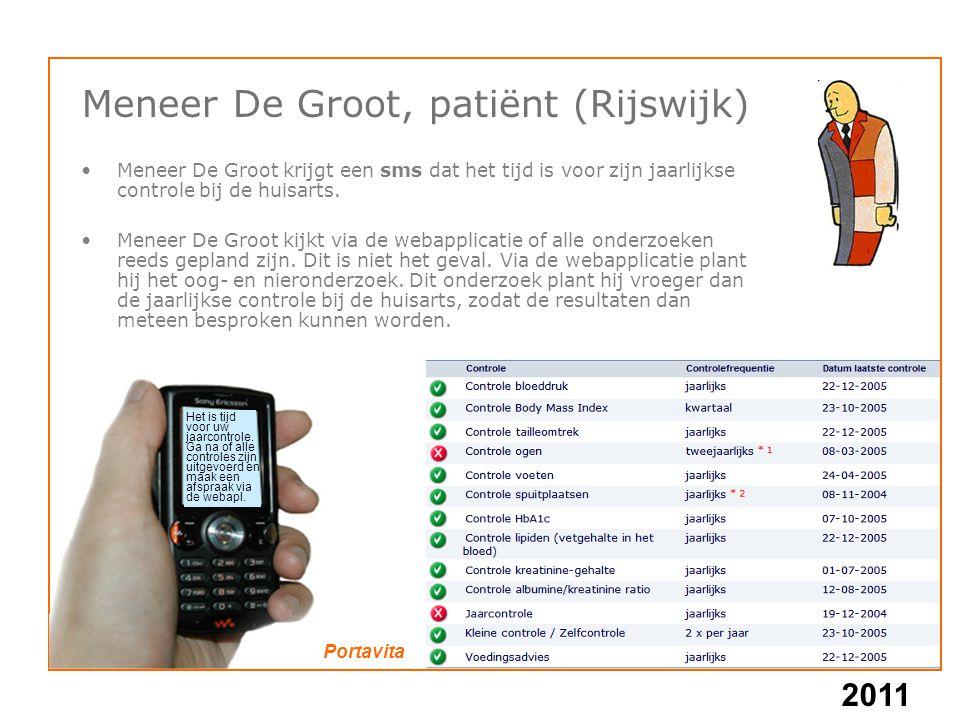 Meneer De Groot, patiënt (Rijswijk)