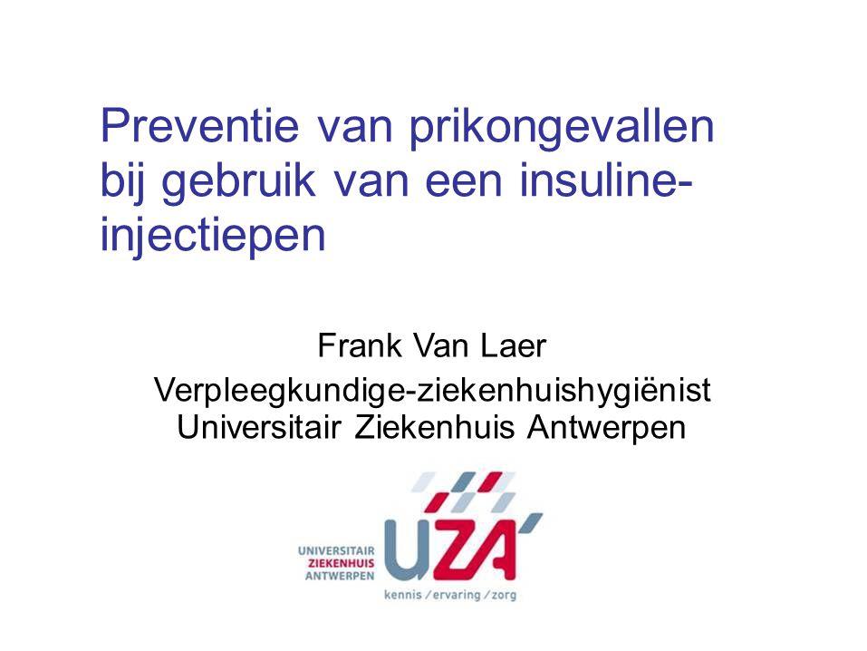 Preventie van prikongevallen bij gebruik van een insuline- injectiepen