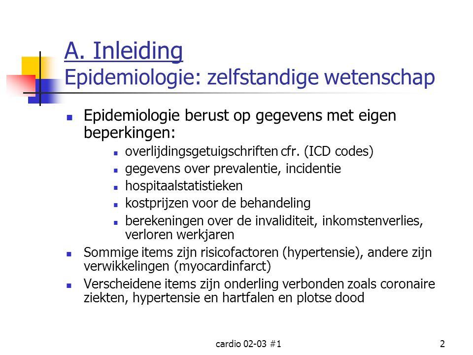 A. Inleiding Epidemiologie: zelfstandige wetenschap
