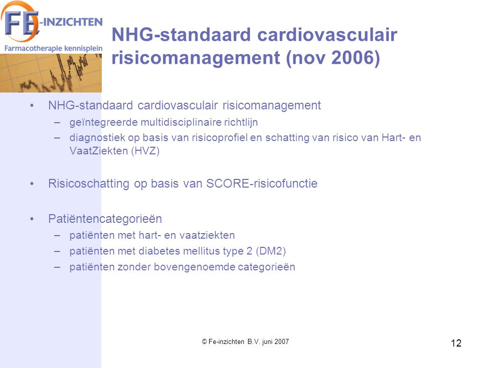 NHG-standaard cardiovasculair risicomanagement (nov 2006)