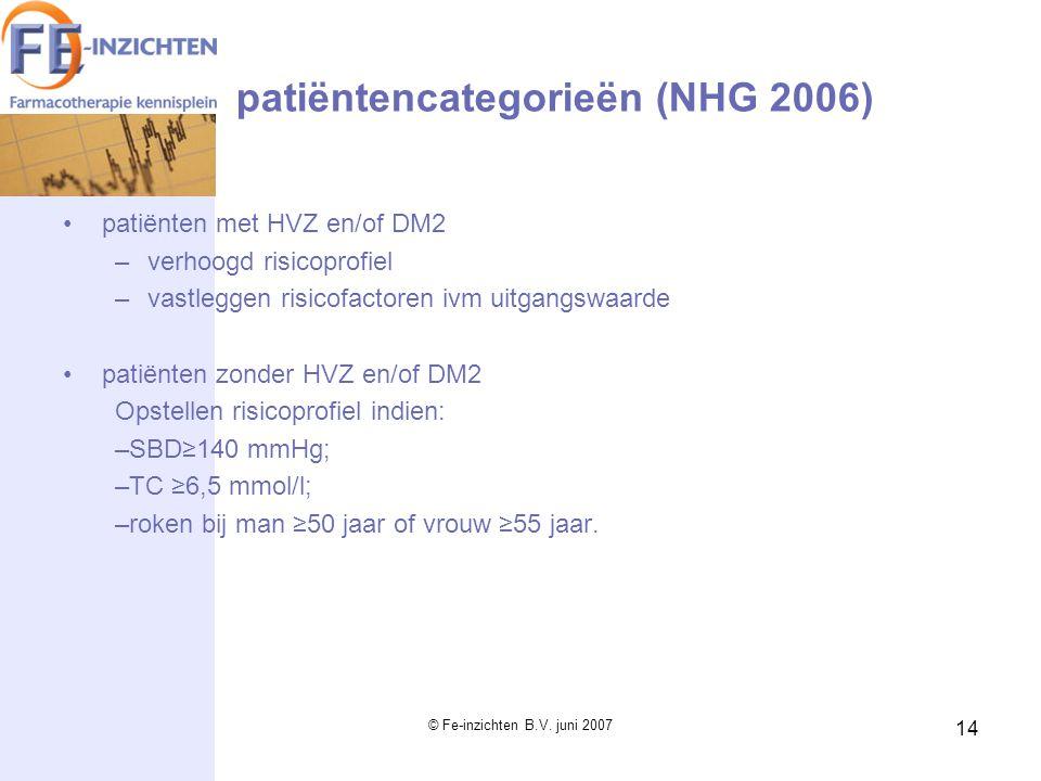 patiëntencategorieën (NHG 2006)