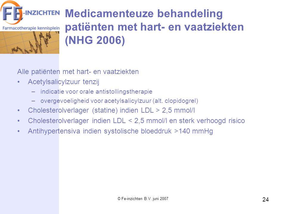 Medicamenteuze behandeling patiënten met hart- en vaatziekten (NHG 2006)