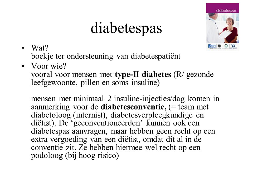 diabetespas Wat boekje ter ondersteuning van diabetespatiënt