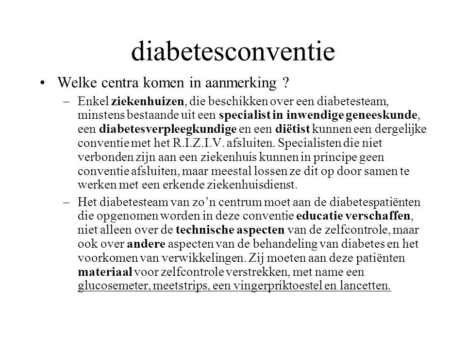 diabetesconventie Welke centra komen in aanmerking