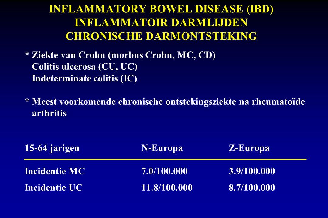 INFLAMMATORY BOWEL DISEASE (IBD) INFLAMMATOIR DARMLIJDEN CHRONISCHE DARMONTSTEKING