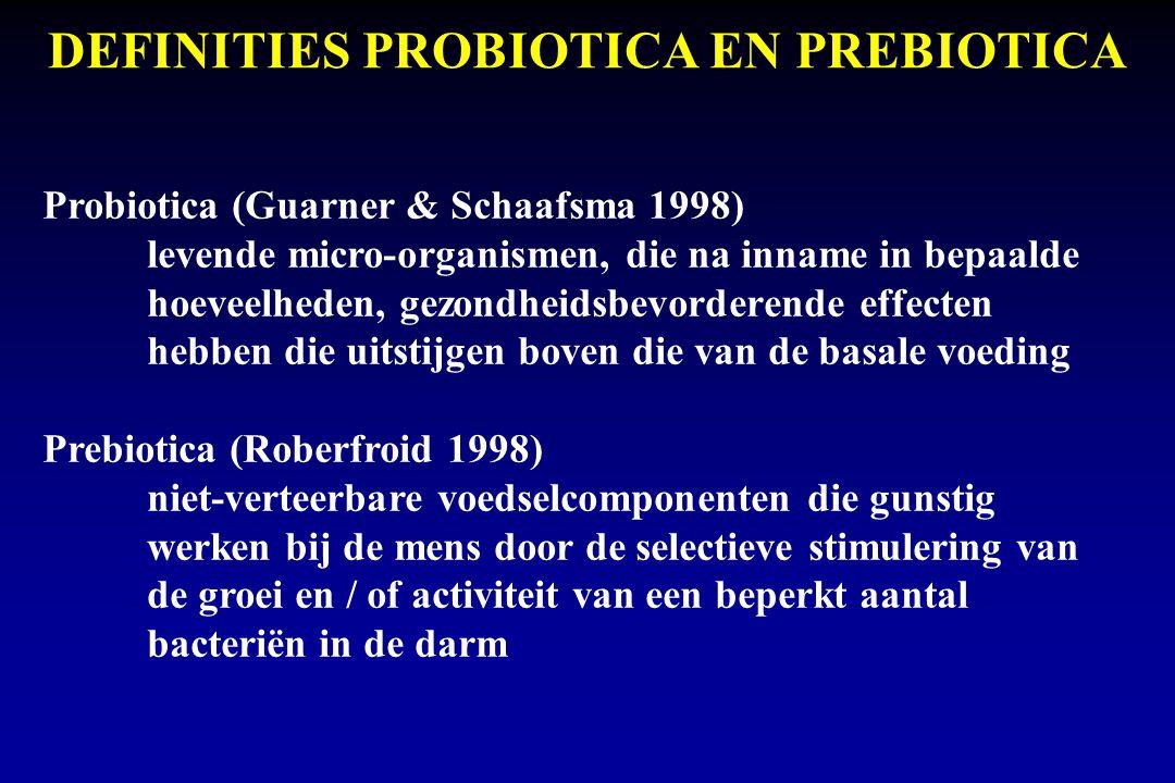 DEFINITIES PROBIOTICA EN PREBIOTICA