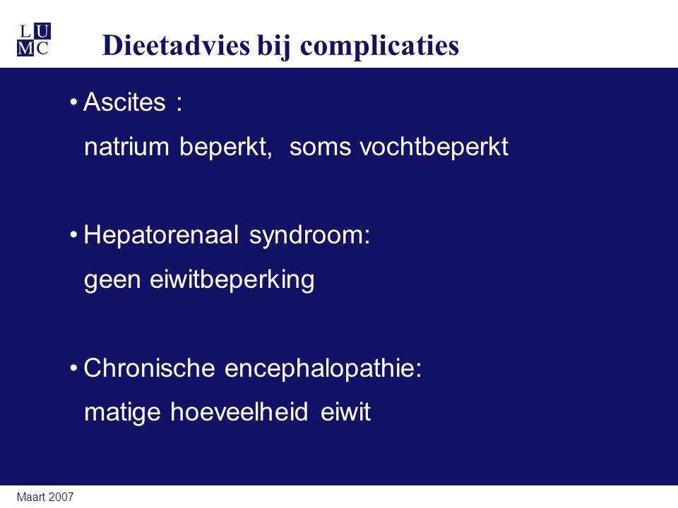 Dieetadvies bij complicaties