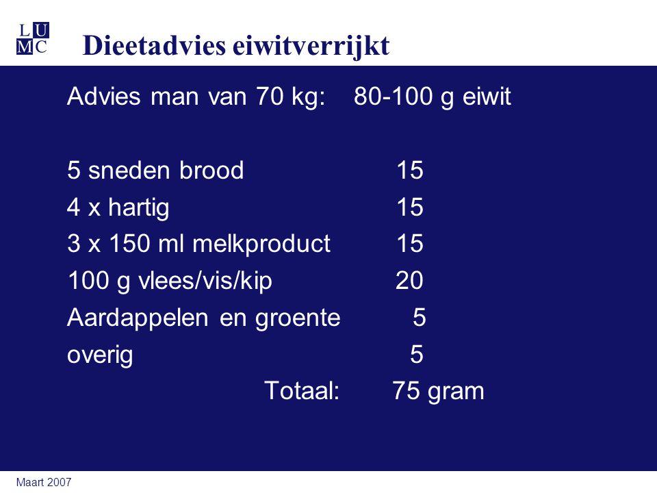 Dieetadvies eiwitverrijkt