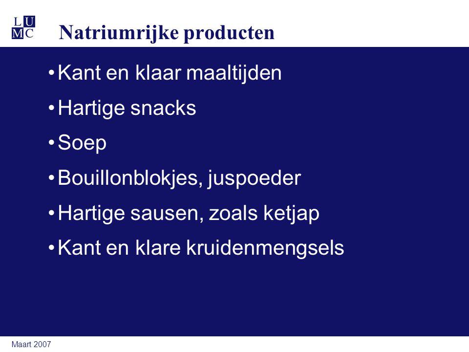 Natriumrijke producten