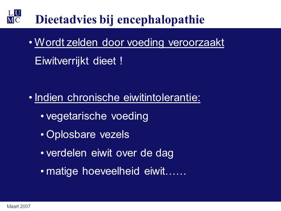 Dieetadvies bij encephalopathie