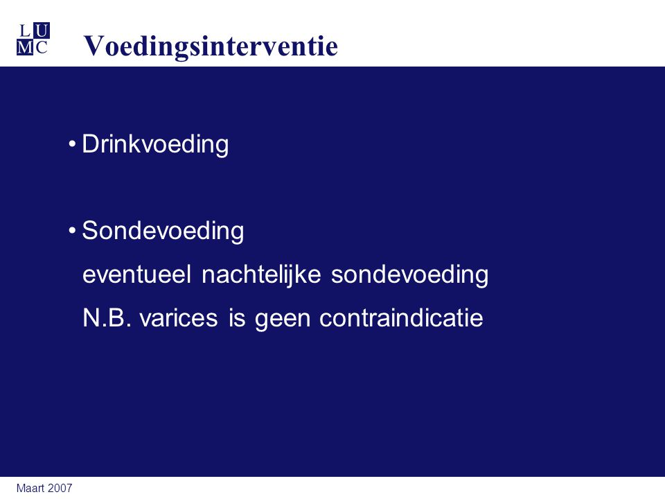 Voedingsinterventie Drinkvoeding Sondevoeding