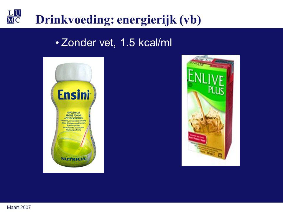 Drinkvoeding: energierijk (vb)