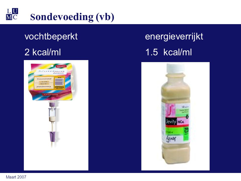 vochtbeperkt energieverrijkt 2 kcal/ml 1.5 kcal/ml