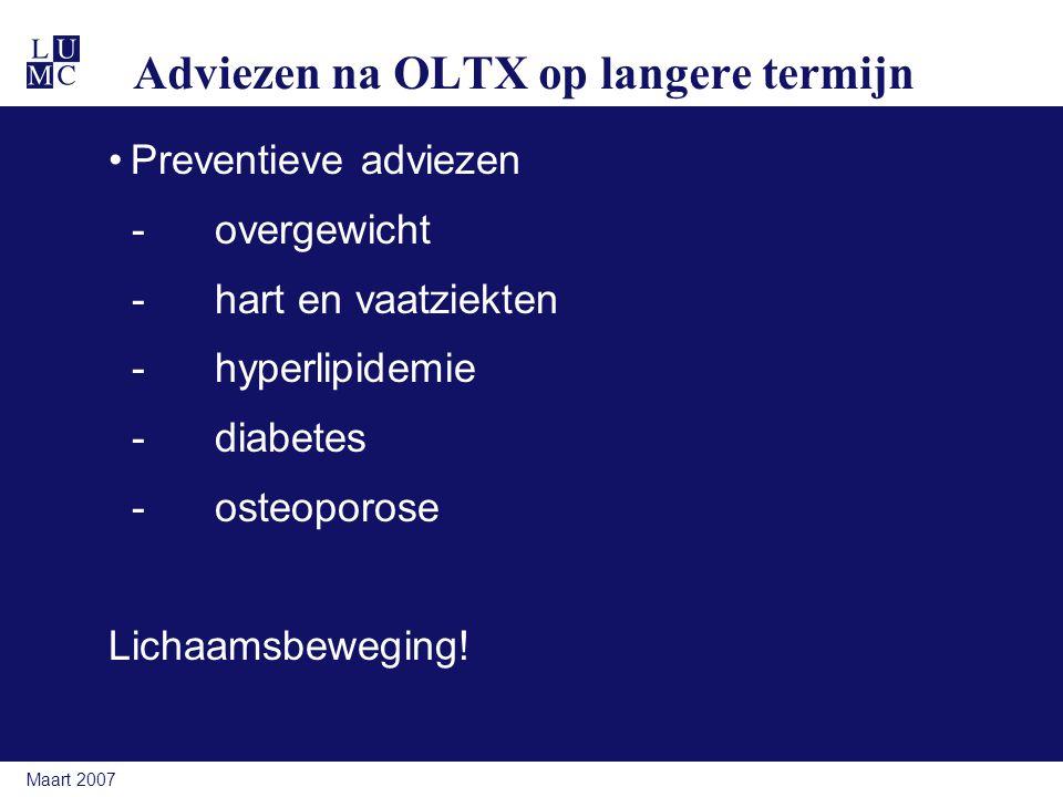 Adviezen na OLTX op langere termijn