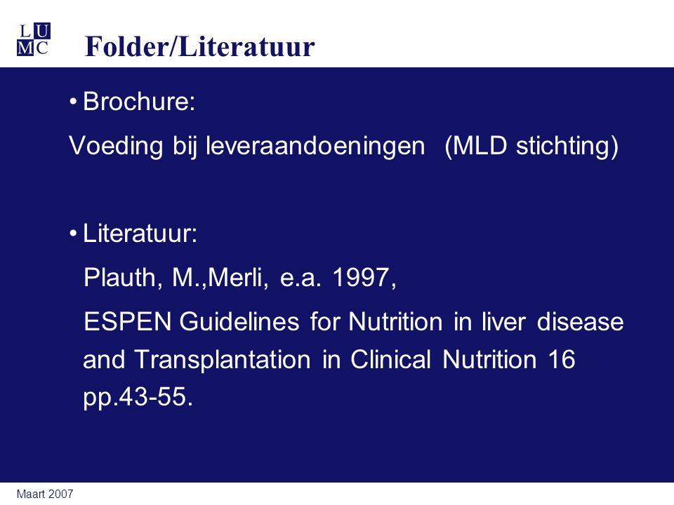 Folder/Literatuur Brochure: