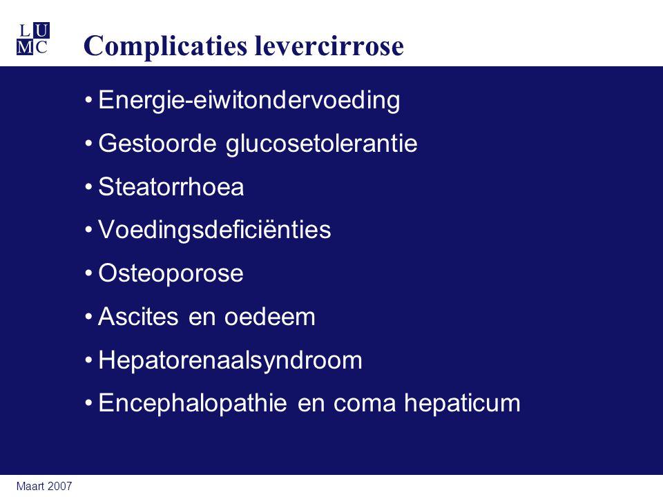 Complicaties levercirrose