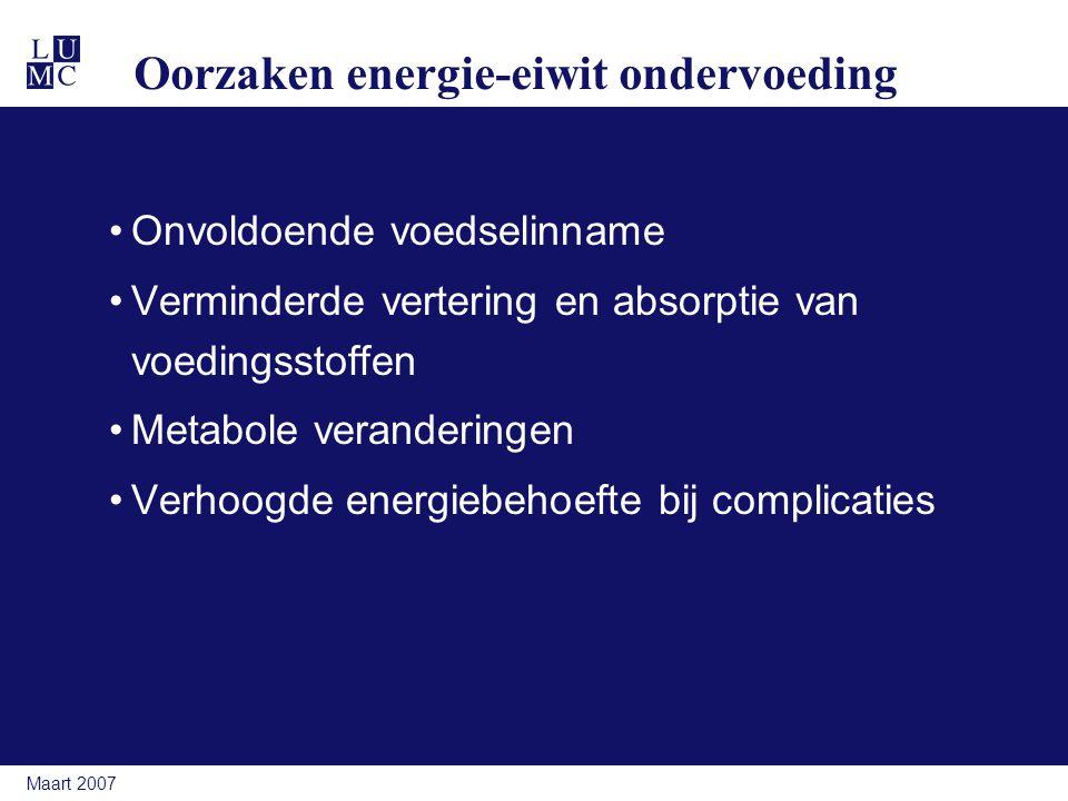 Oorzaken energie-eiwit ondervoeding