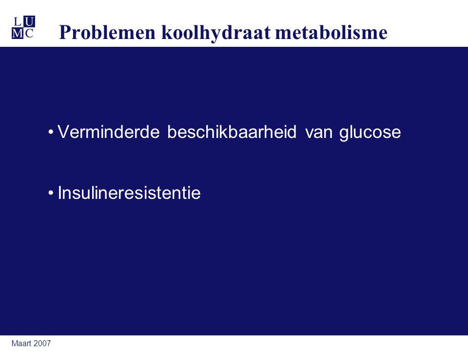 Problemen koolhydraat metabolisme