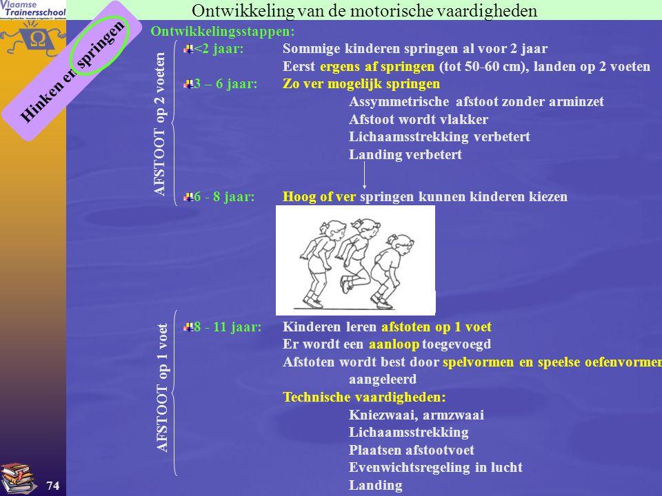 Ontwikkeling van de motorische vaardigheden